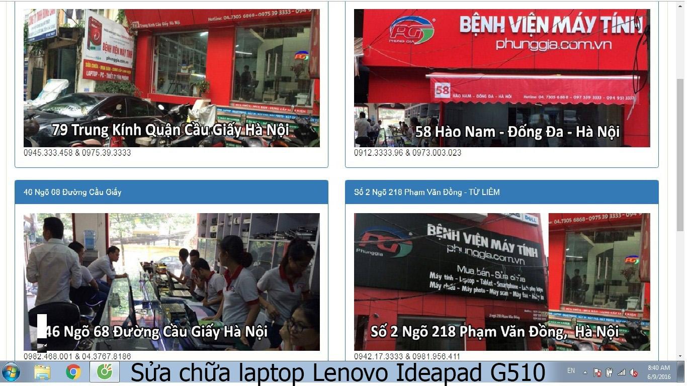 sửa chữa laptop Lenovo Ideapad G510