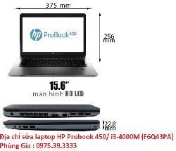 Địa chỉ sửa laptop HP Probook 450/ i3-4000M (F6Q43PA) lấy ngay hà nội